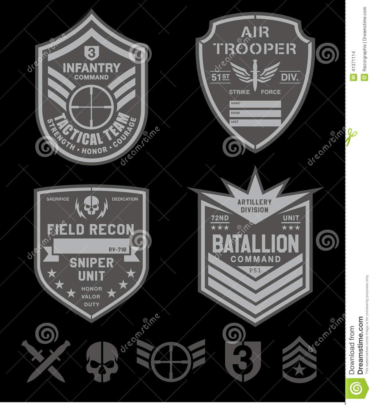 Army special forces units patches the song