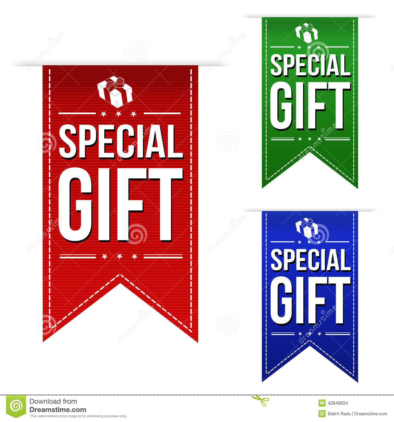 Special Gift Banner Design Set Stock Vector