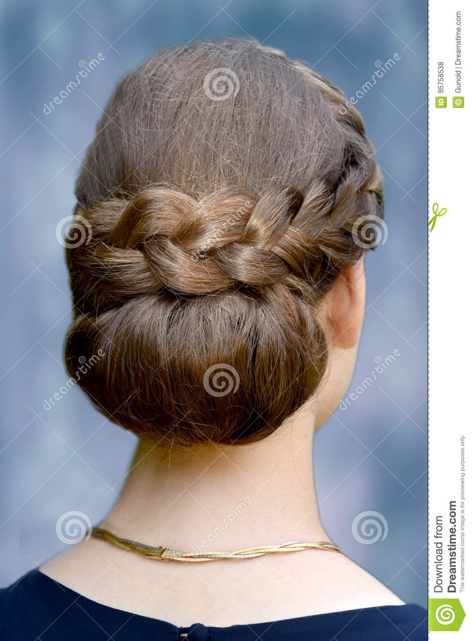 Special Hairstyle Braided Hair Stock Photo Image Of Braid Decent 95758538