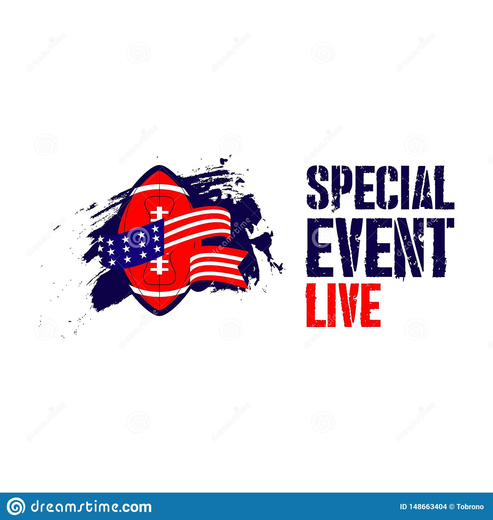 Special Live Event Vector Template Design Illustration