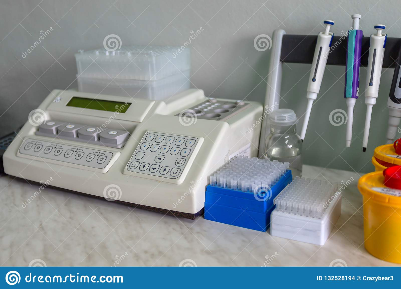 Special, medical equipment, test tubes. in the laboratory. The work of a doctor