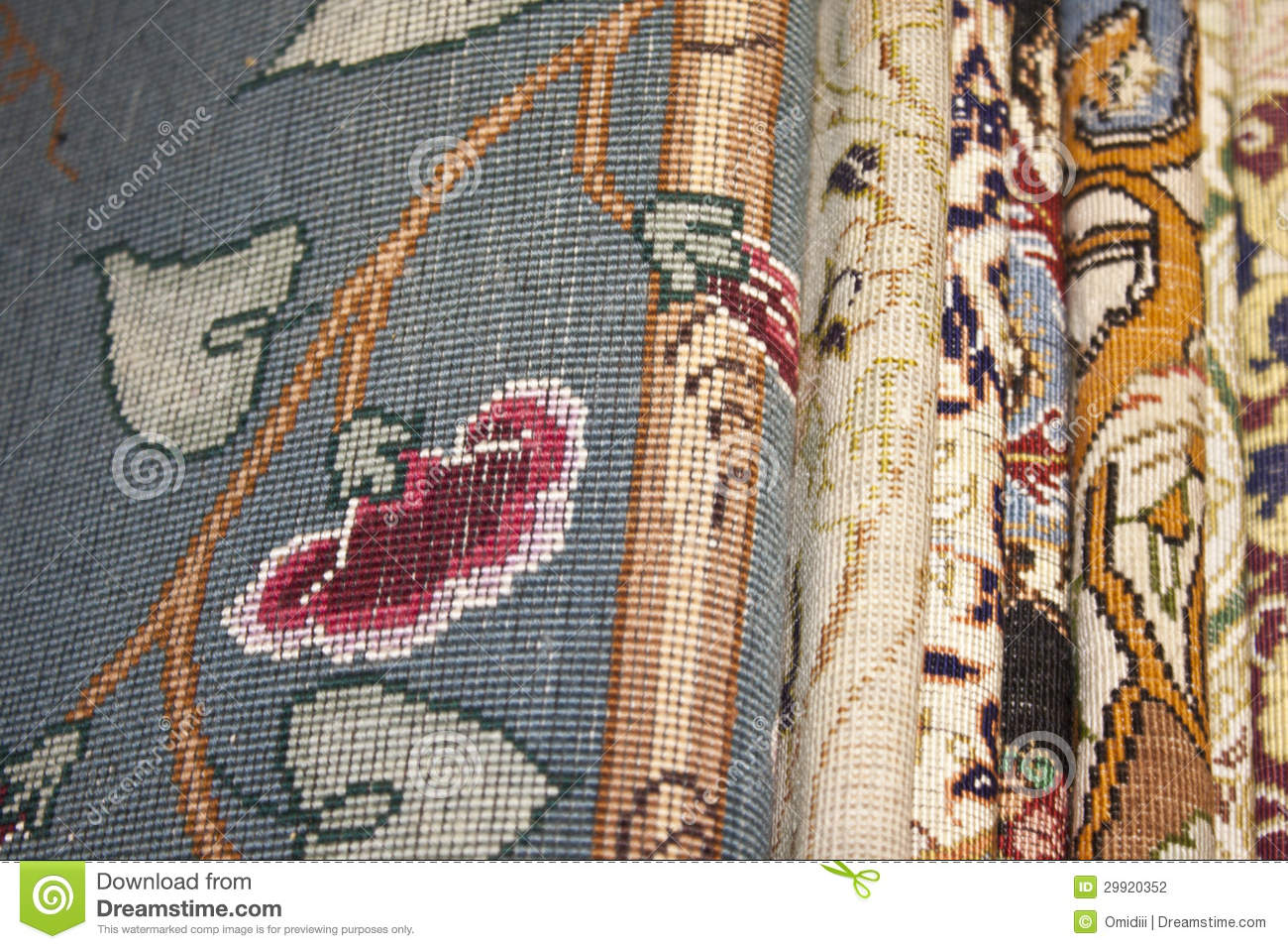 Nice Design In Iran Carpet Stock Photography - Image: 29920352