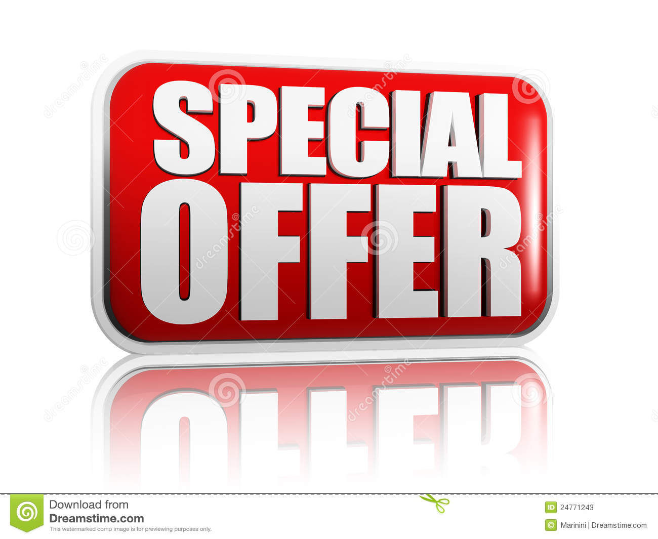Special Offer Stock Photos Image 24771243