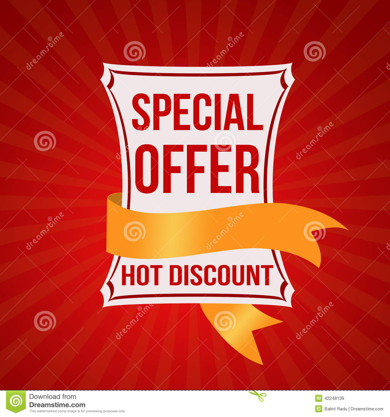 special offer banner stock vector