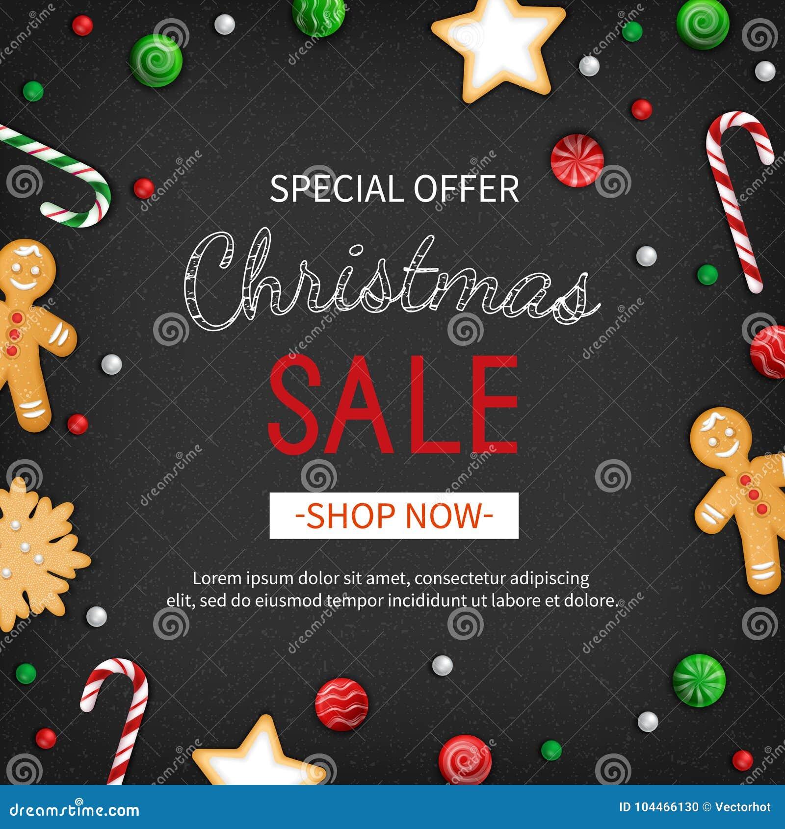 Special Offer Christmas Sale Discount Flyer Big Seasonal Sale Web