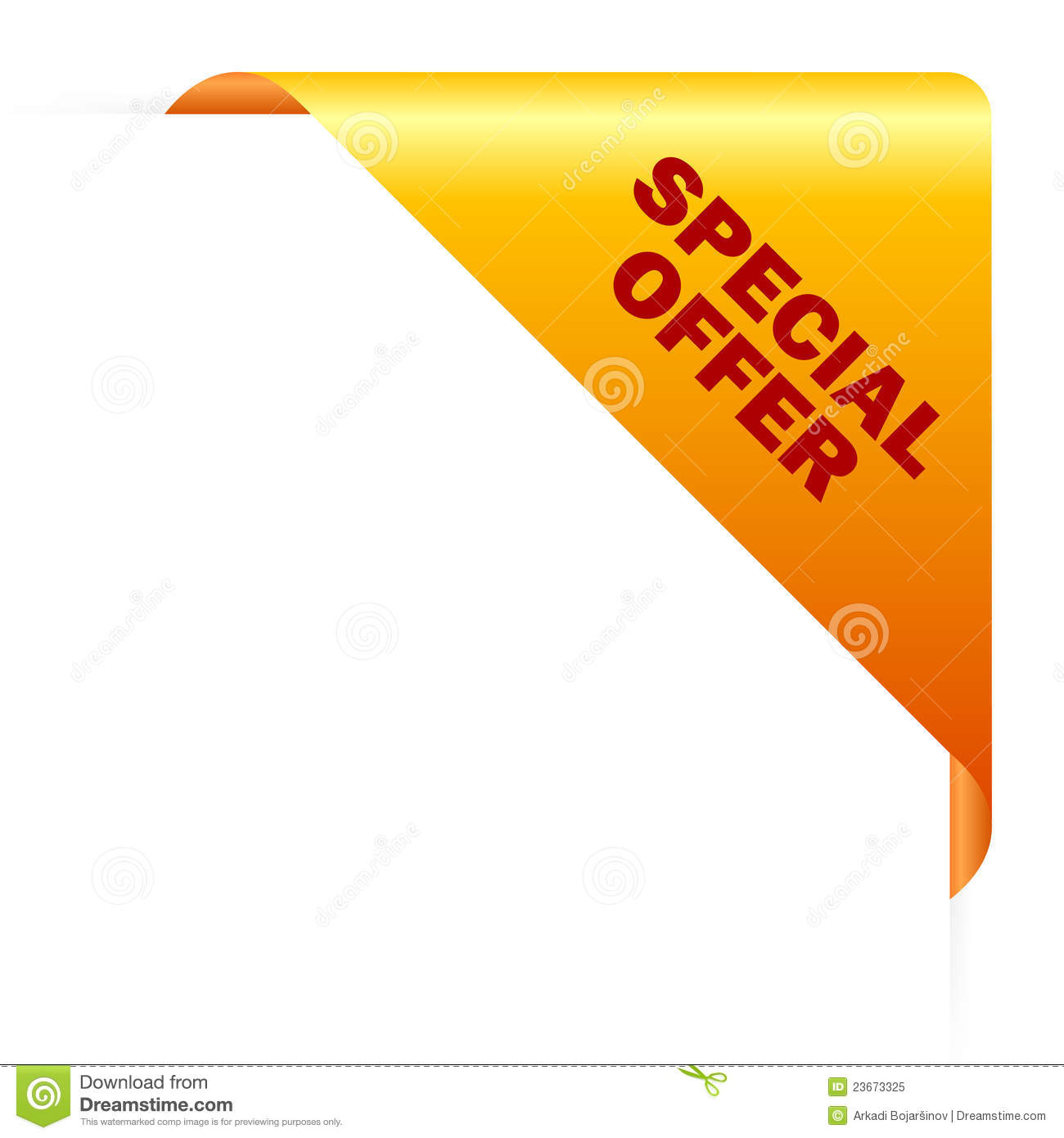 Offer: Special Offer Corner Royalty Free Stock Photo
