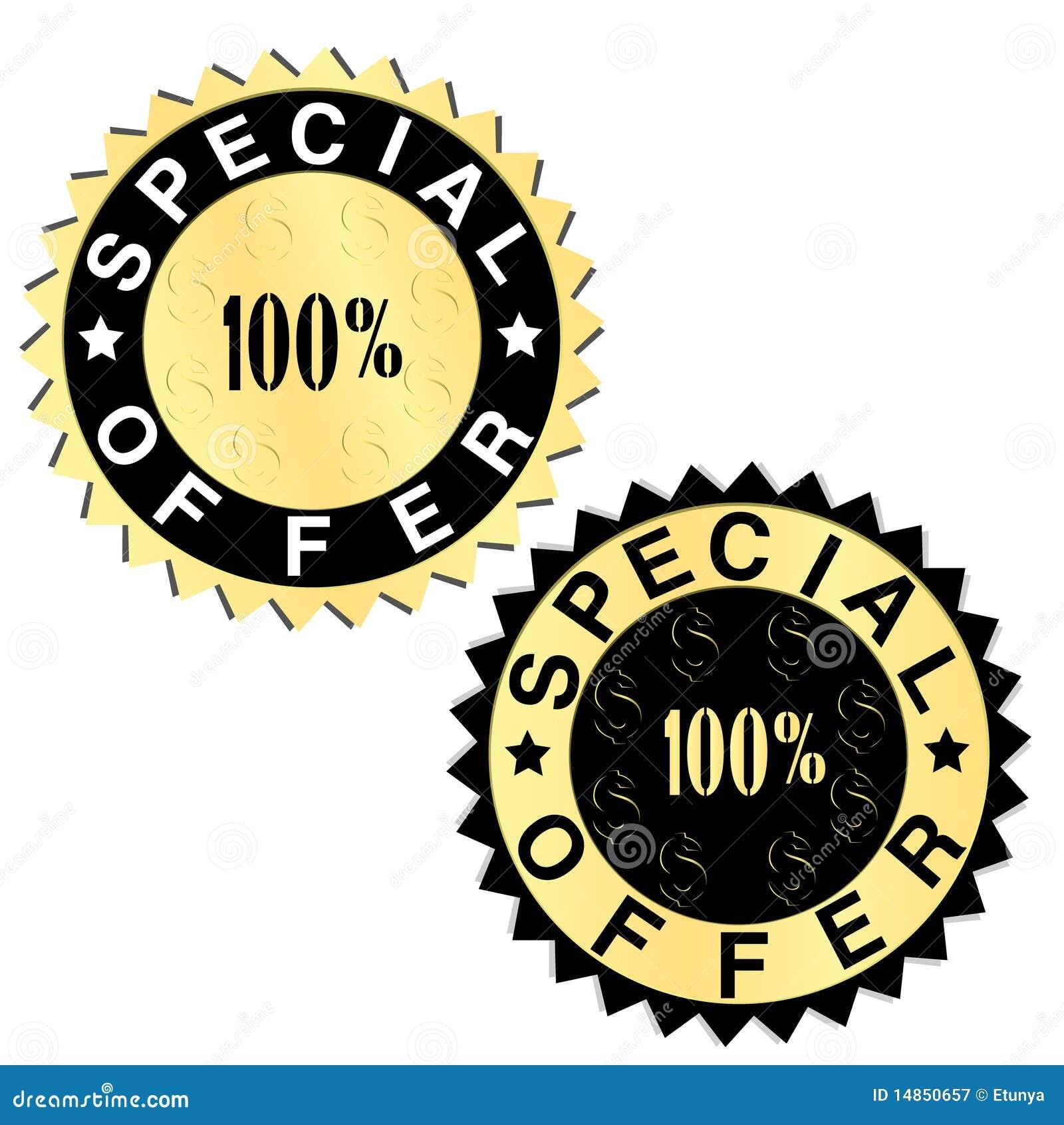 Special offer golden labels