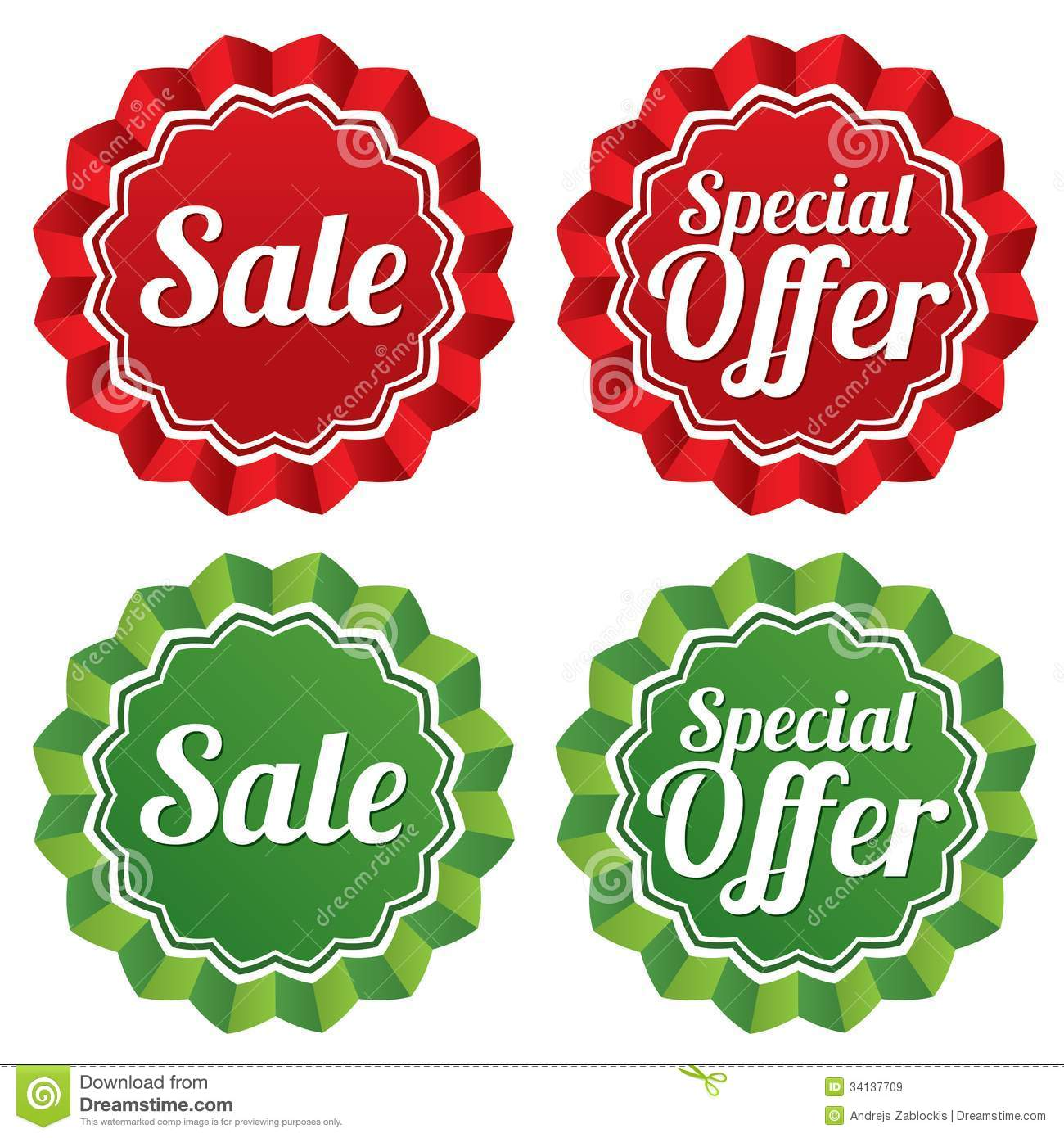 Special Offer Price Tags Templates Set. Royalty Free Stock Images ...