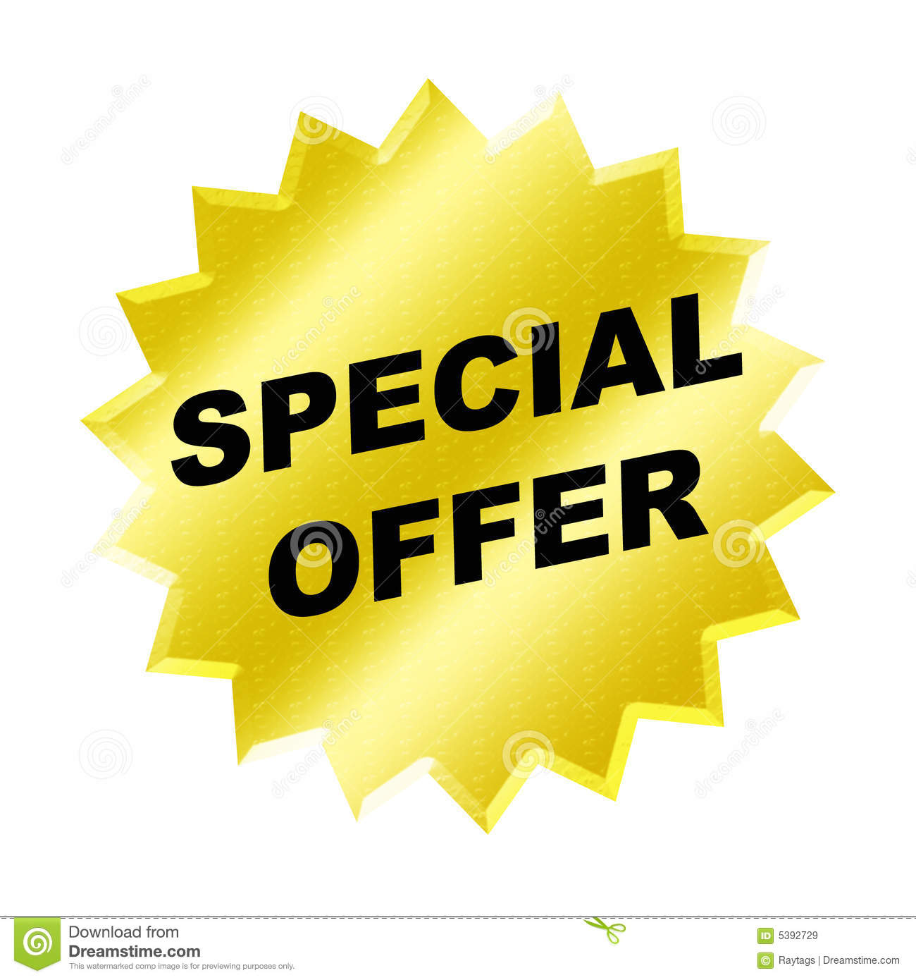 special offer sign stock