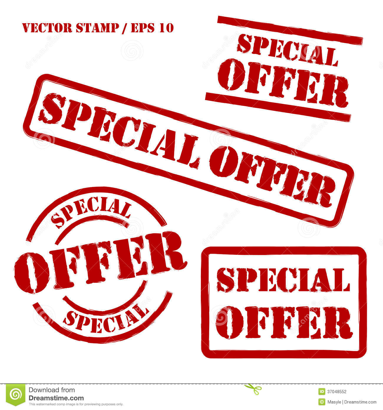 Offer: Special Offer Vector Stamps Set Stock Photography