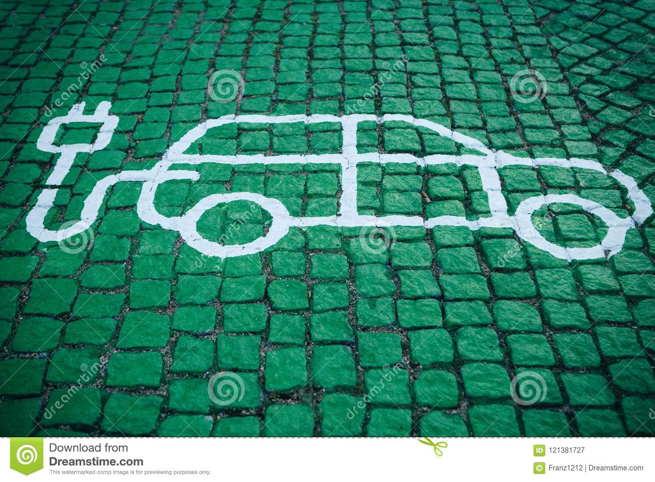 A special place for charging electric cars or vehicles. A modern and eco-friendly mode of transport that has become