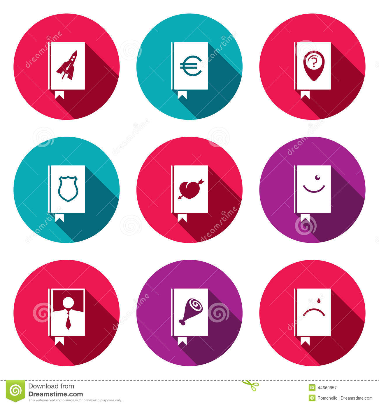 Specialized Face Book Icon Collection Stock Illustration