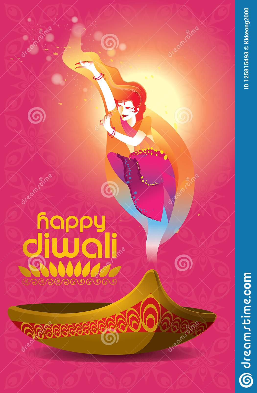 Vector for deepavali or diwali with a dancing woman oil lamp and download vector for deepavali or diwali with a dancing woman oil lamp and deepavali m4hsunfo