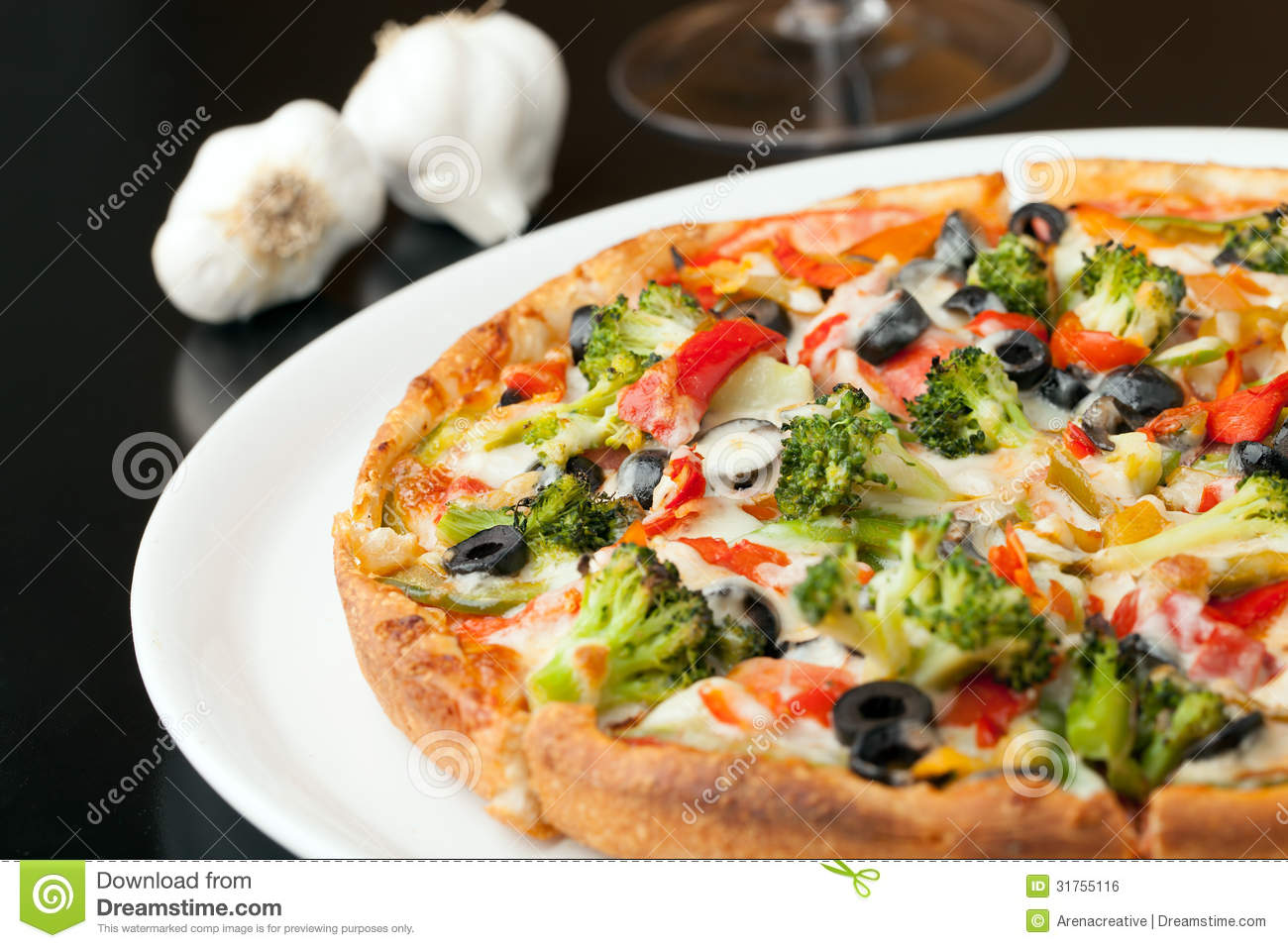 Specialty Pizza Toppings Royalty Free Stock Image - Image ...