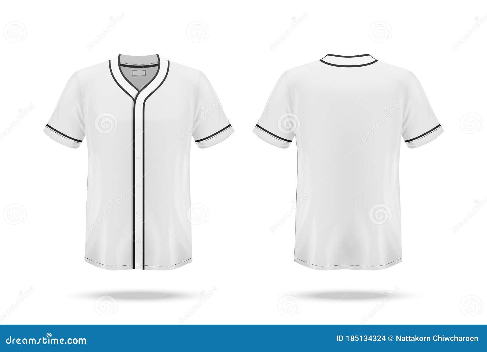 Specification Baseball Jersey T Shirt Mockup Stock Vector ...