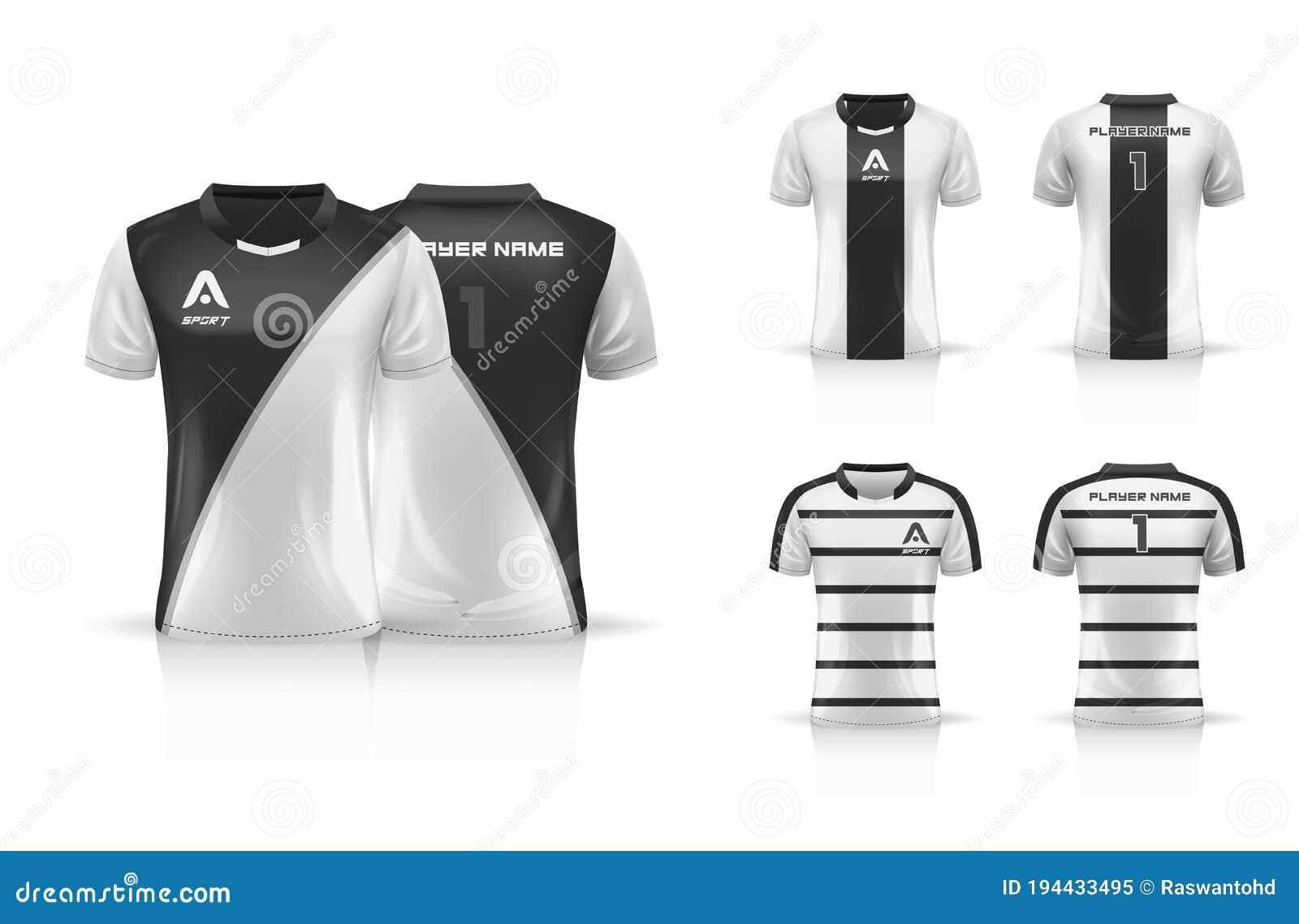 Specification Soccer Sport Esport Gaming T Shirt Jersey Template Mock Up Uniform Collection Set Vector Illustration Design Stock Vector Illustration Of Apparel Casual 194433495