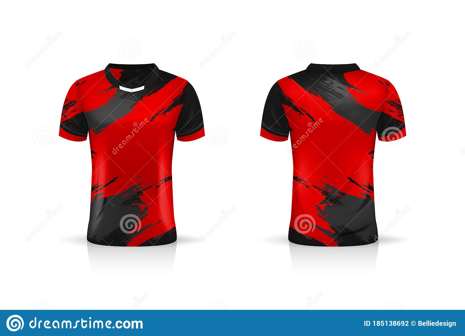 Specification Soccer Sport Esport Gaming T Shirt Jersey Template Mock Up Uniform Vector Illustration Stock Vector Illustration Of Collar Soccer 185138692