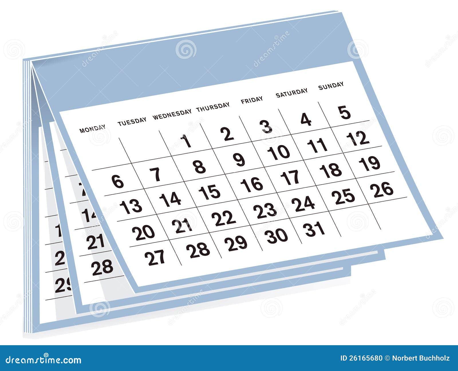 Specificerade kalender och inget år