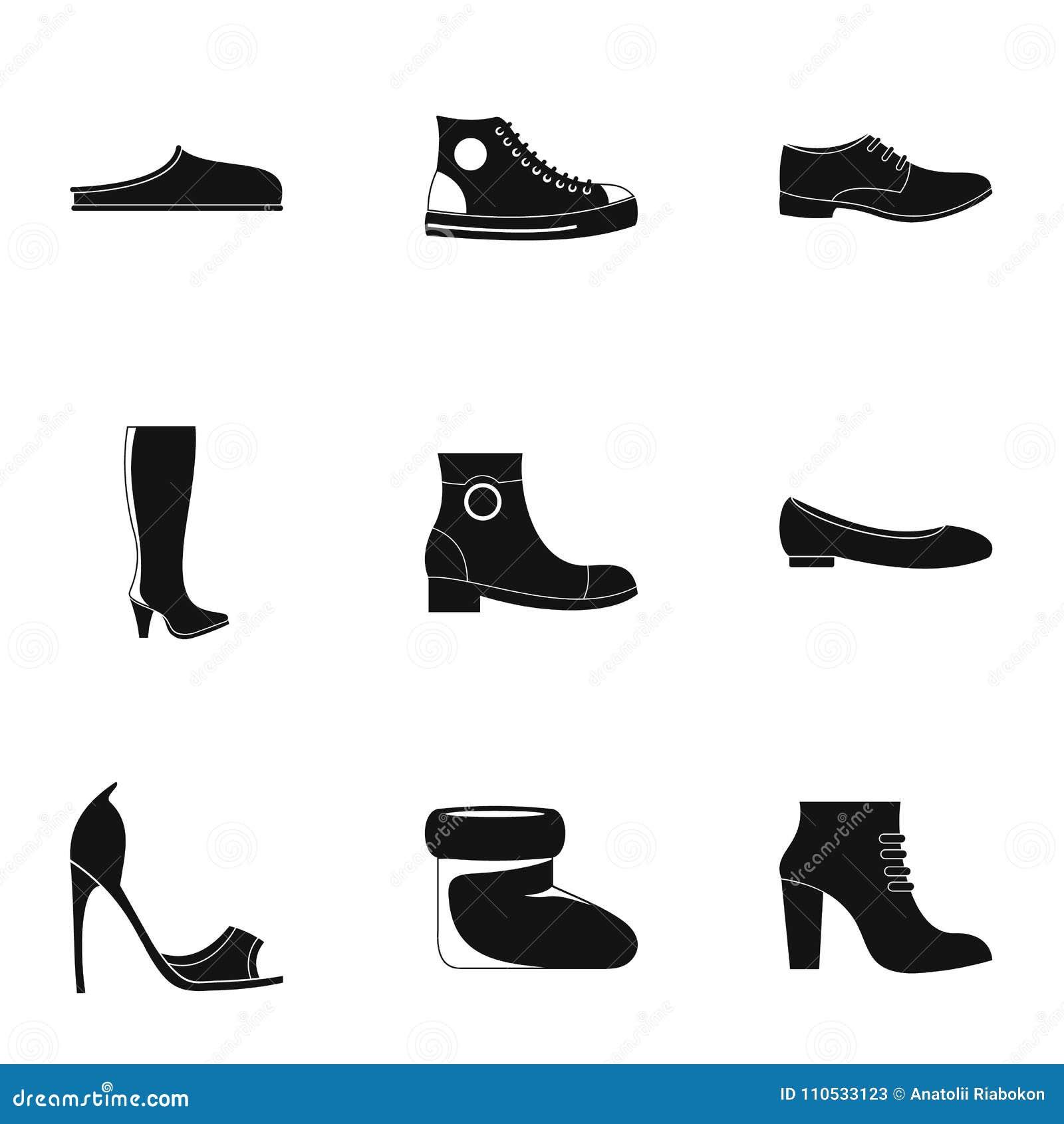 Specjalne obuwie ikony ustawiać, prosty styl