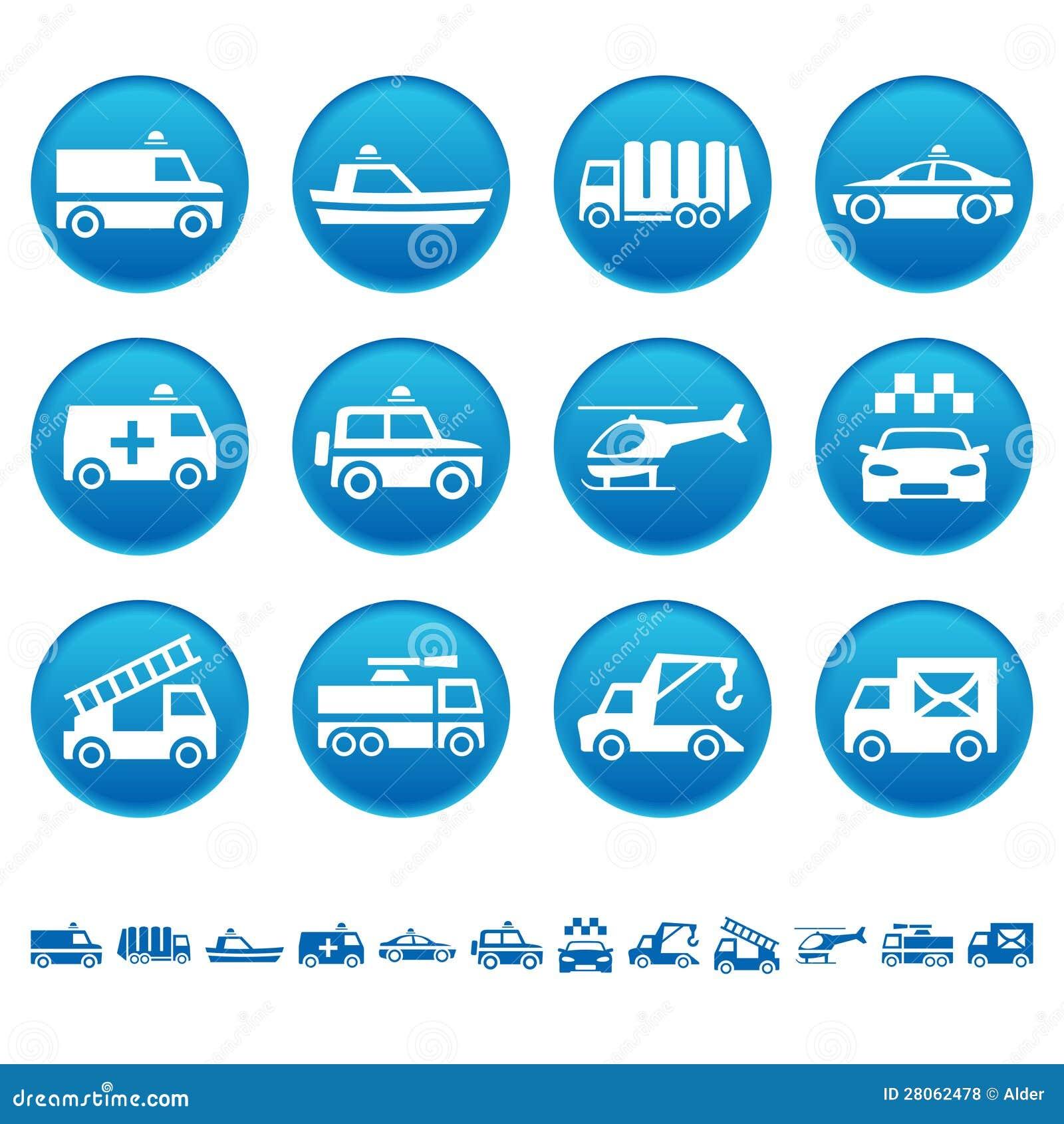 Specjalne transport ikony