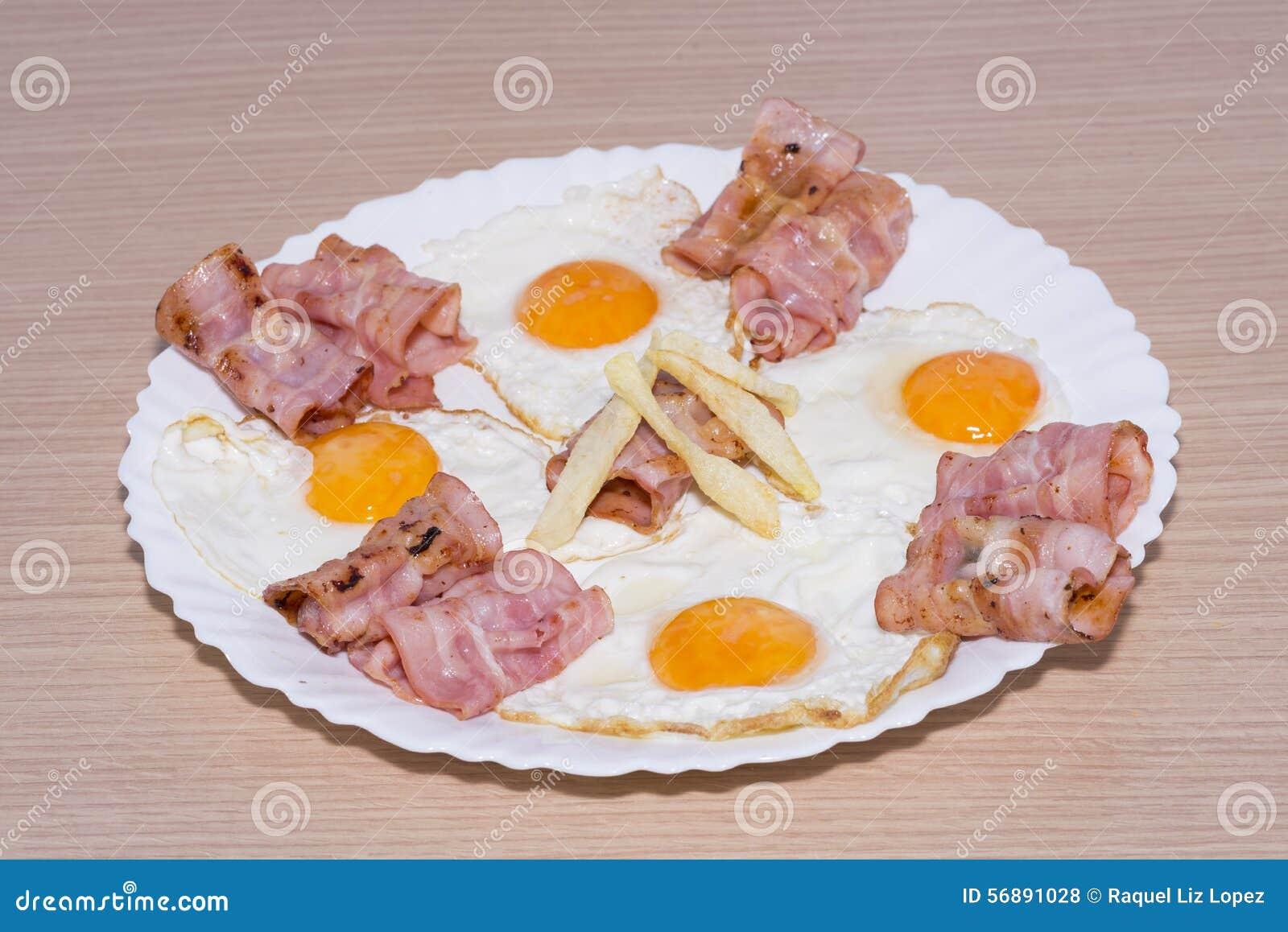 Speck und Eier