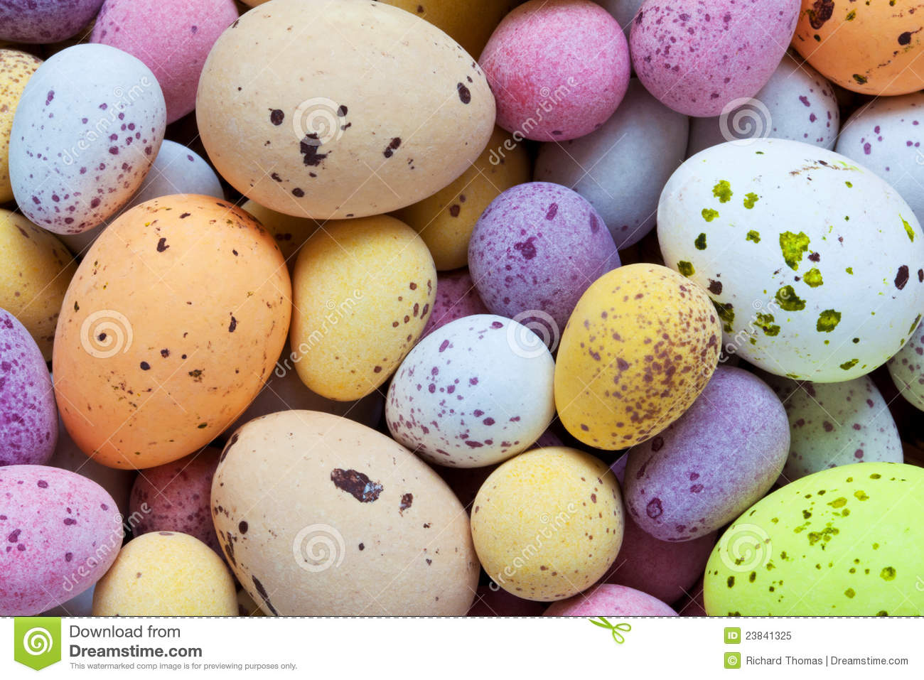 Speckled Candy Covered Chocolate Easter Eggs Royalty Free Stock Photo ...