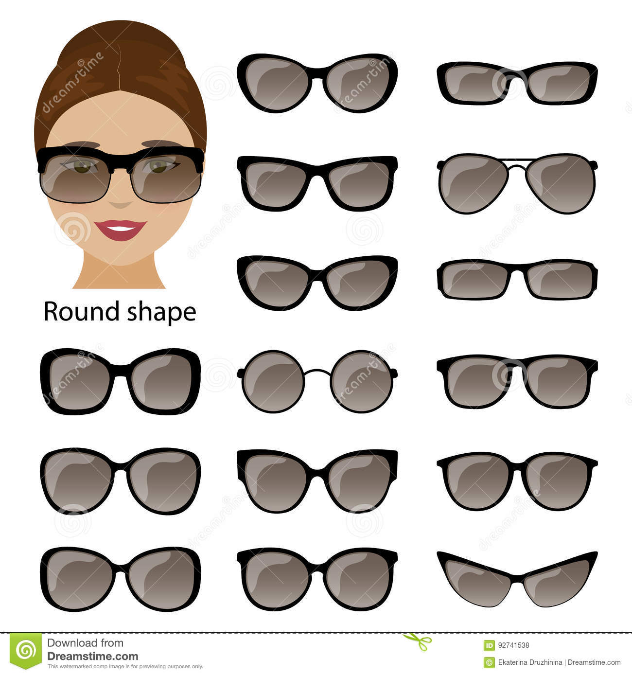 Exelent Round Frame Glasses Face Shape Inspiration - Picture Frame ...