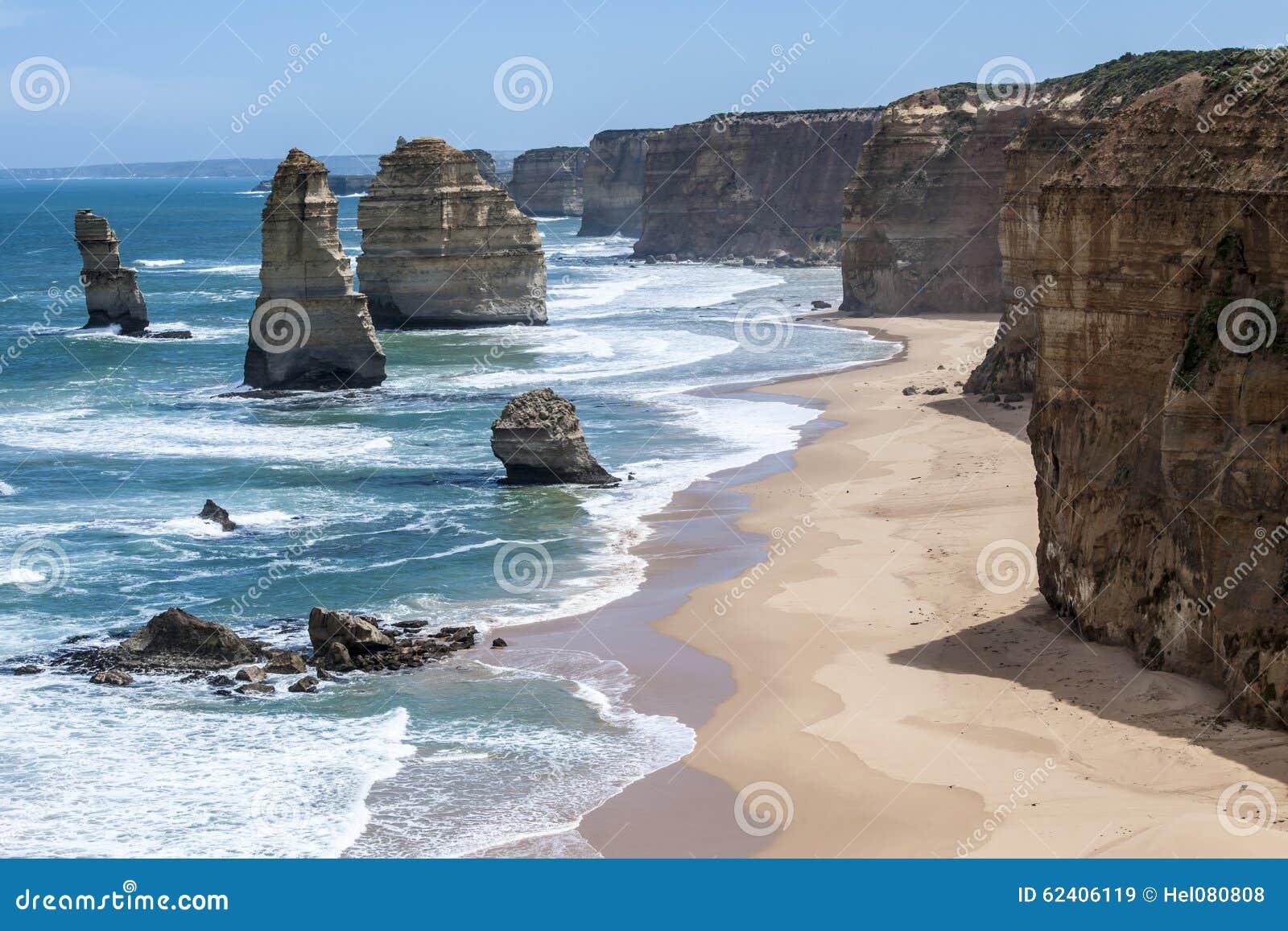 Mist on Twelve Apostles, Coastline Great Ocean Road, South Australia