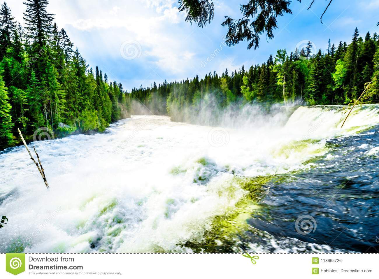 The Spectacular Dawson Falls In Wells Gray Provincial Park, BC