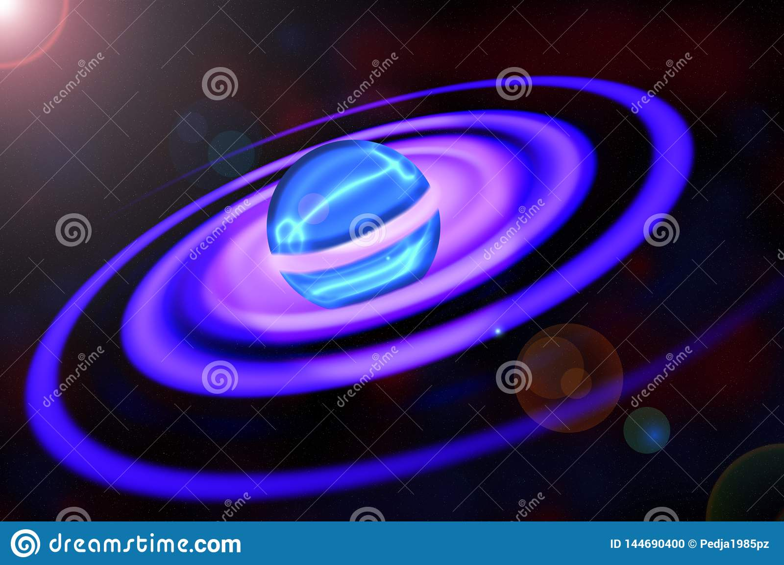 Spectacular Planet with Spiral Rings
