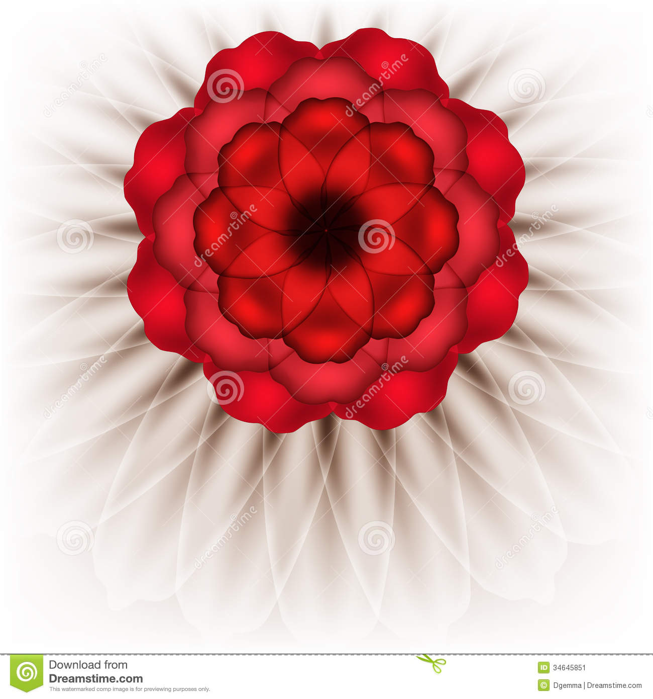 Spectacular red flower stock vector illustration of drawing 34645851 spectacular red flower mightylinksfo