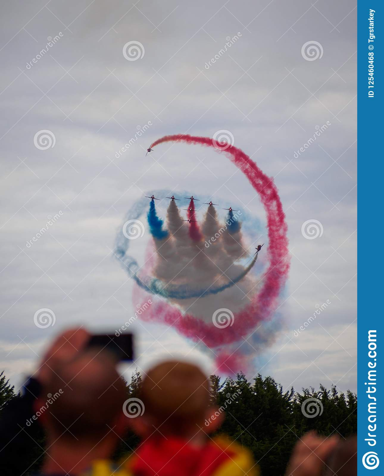 Red Arrows performing the `Tornado` at the Scottish National Airshow 2018