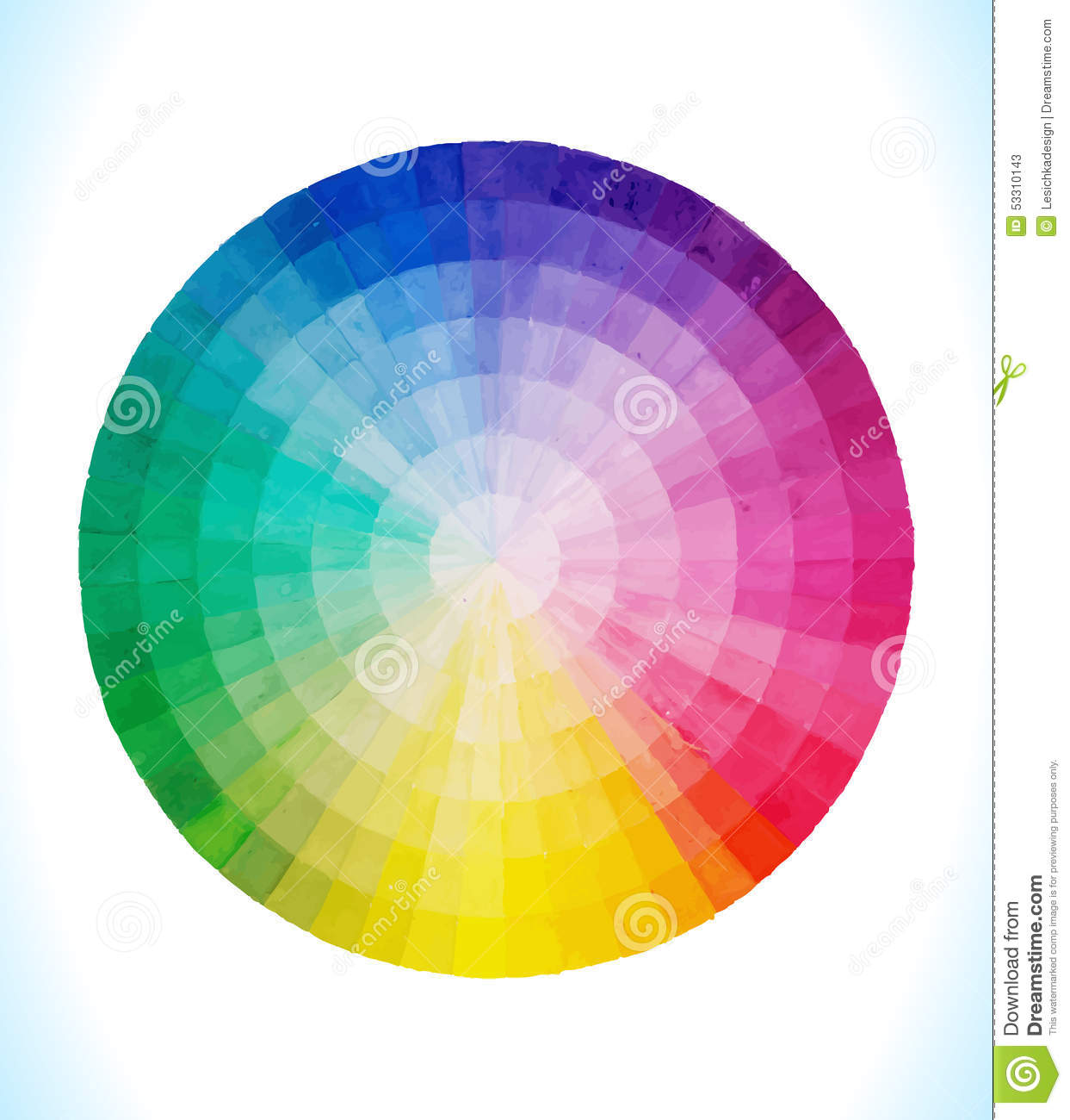Spectral Circle Stock Vector  Image 53310143