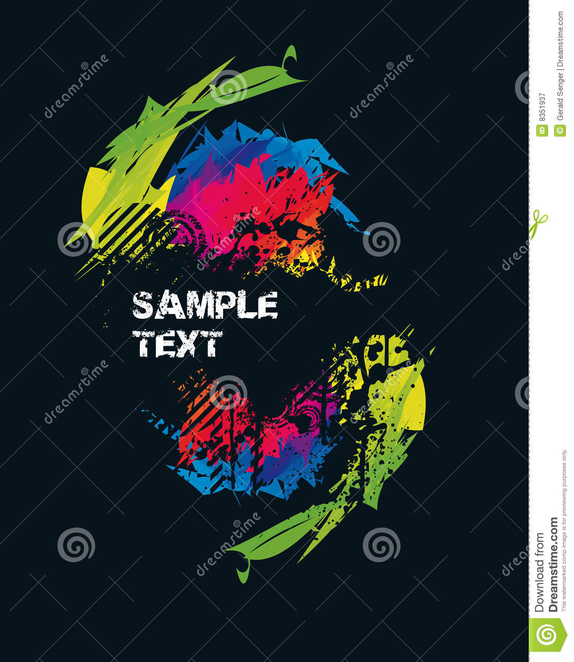Spectral Party Poster Royalty Free Stock Photography - Image: 8351937