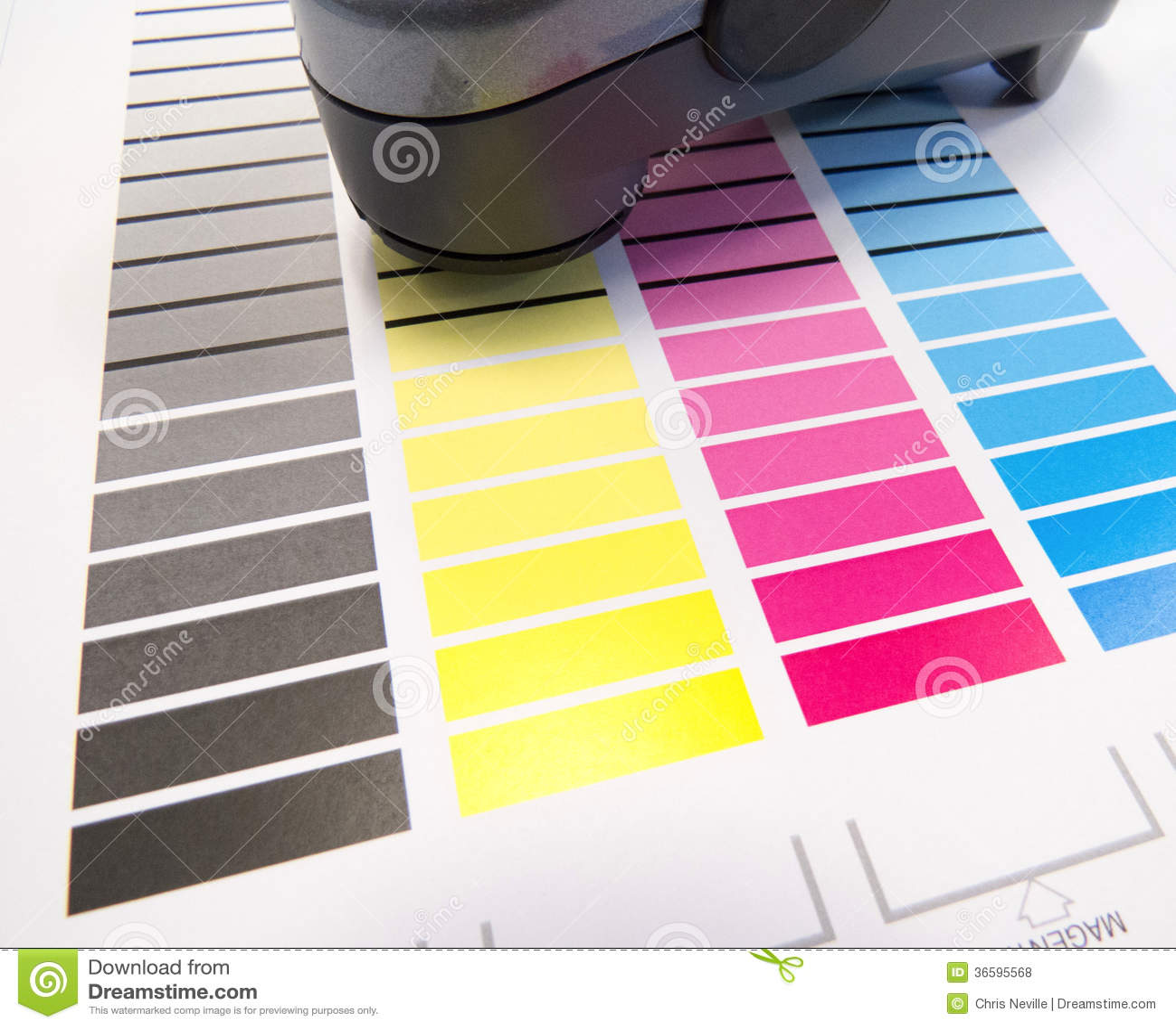 Spectrometer op Kleurengrafiek