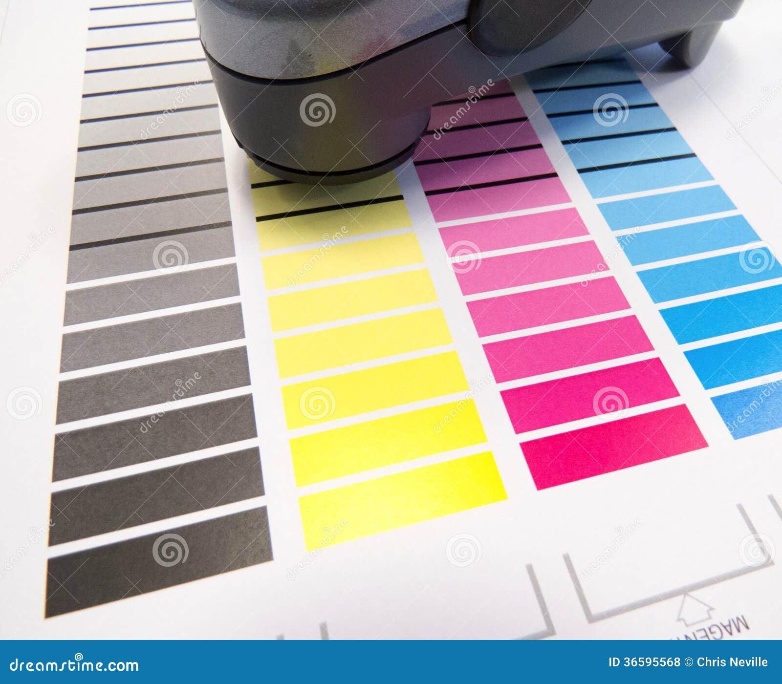 Spectrometer på färgdiagram