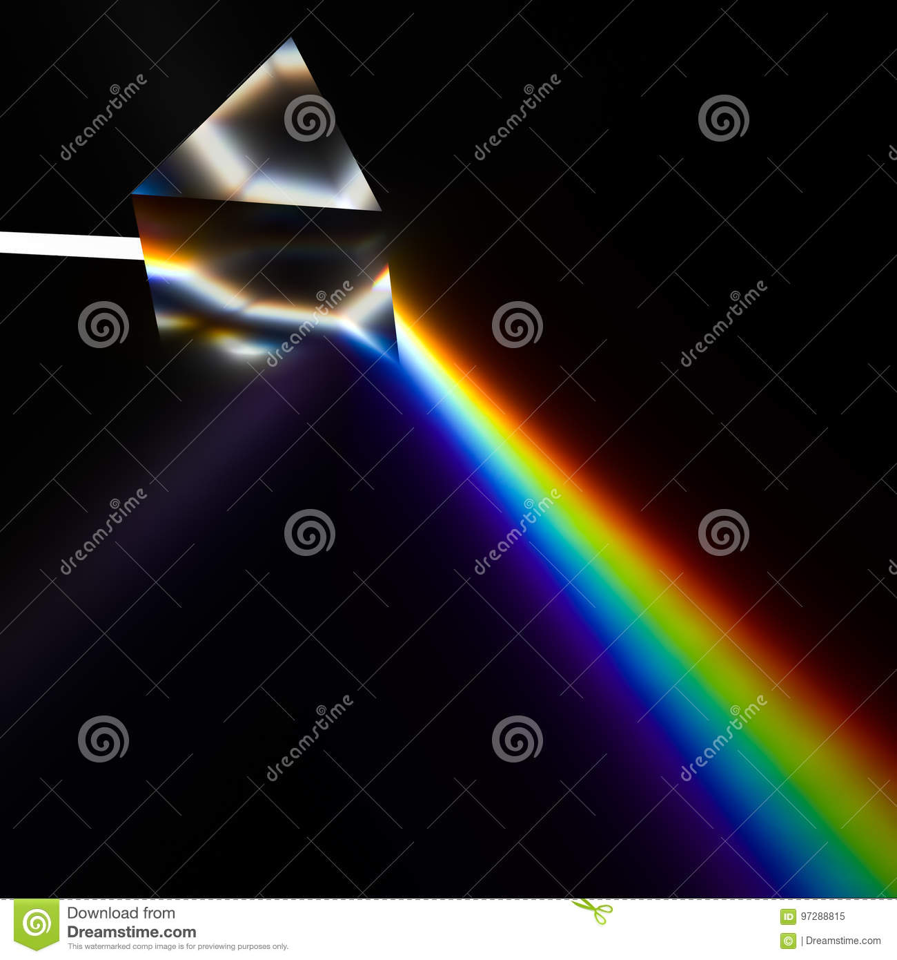 Spectroscopy of light by prism