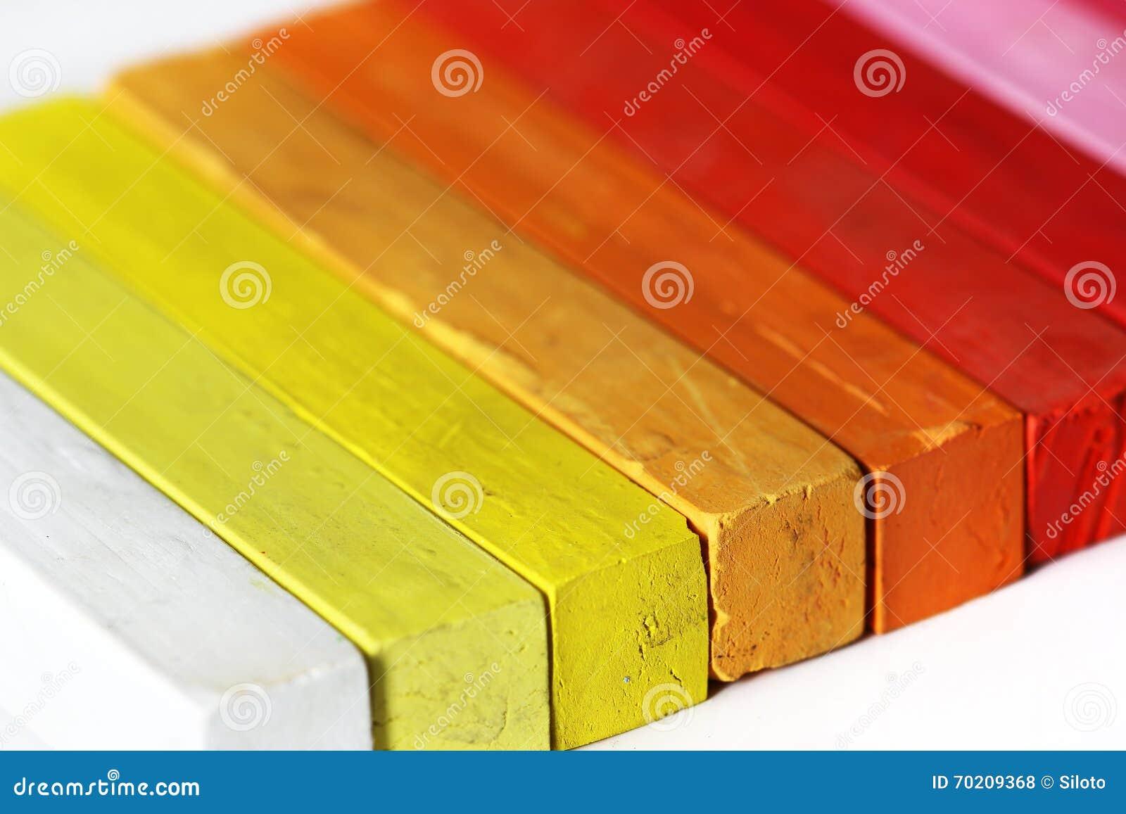 Spectrum warme kleuren stock foto. afbeelding bestaande uit