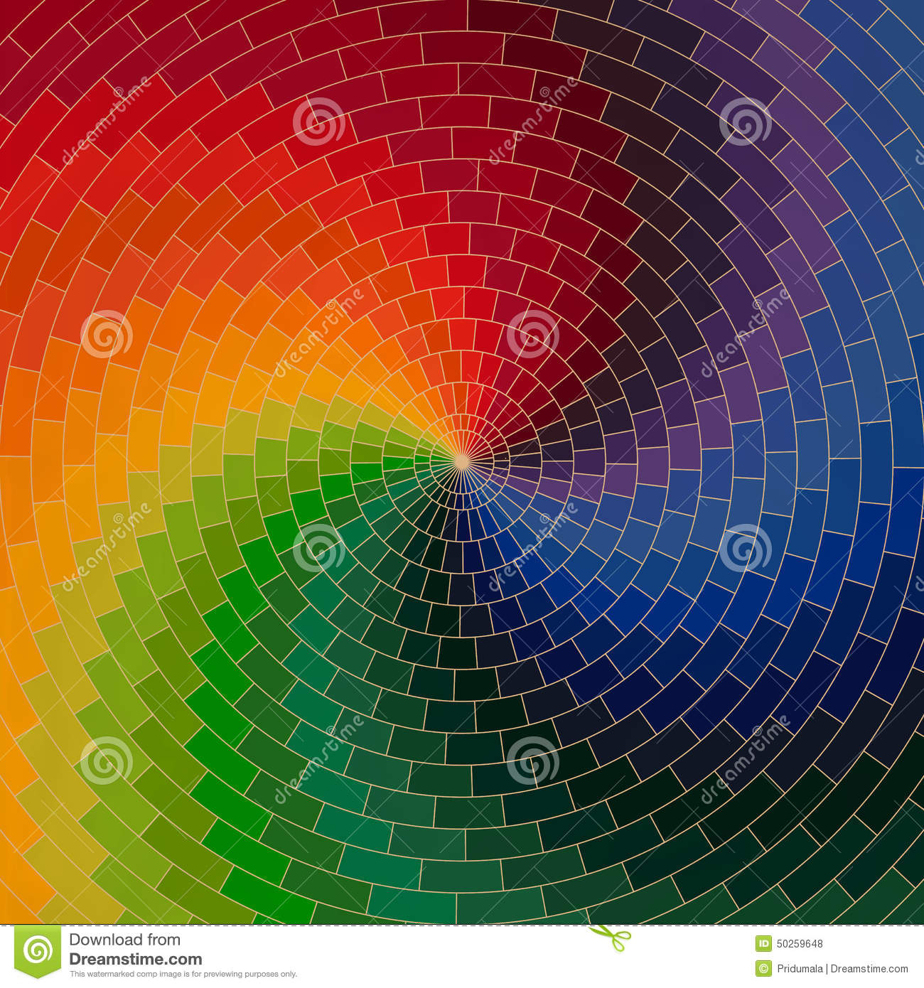 spectrum wheel made of bricks rainbow color spectrum grunge bac rh dreamstime com