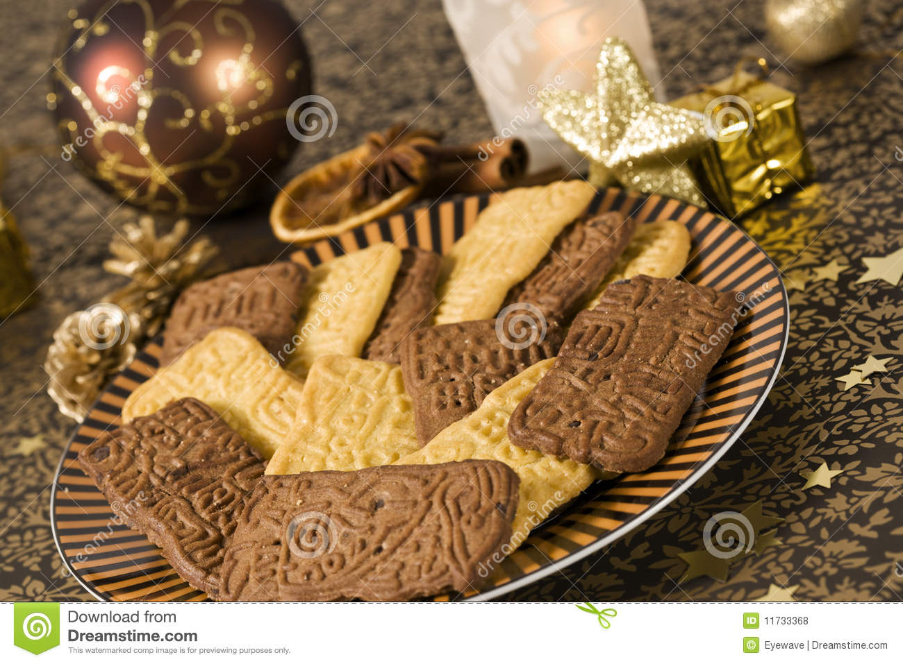 Speculaas Cookies For Christmas Royalty Free Stock Photos - Image ...