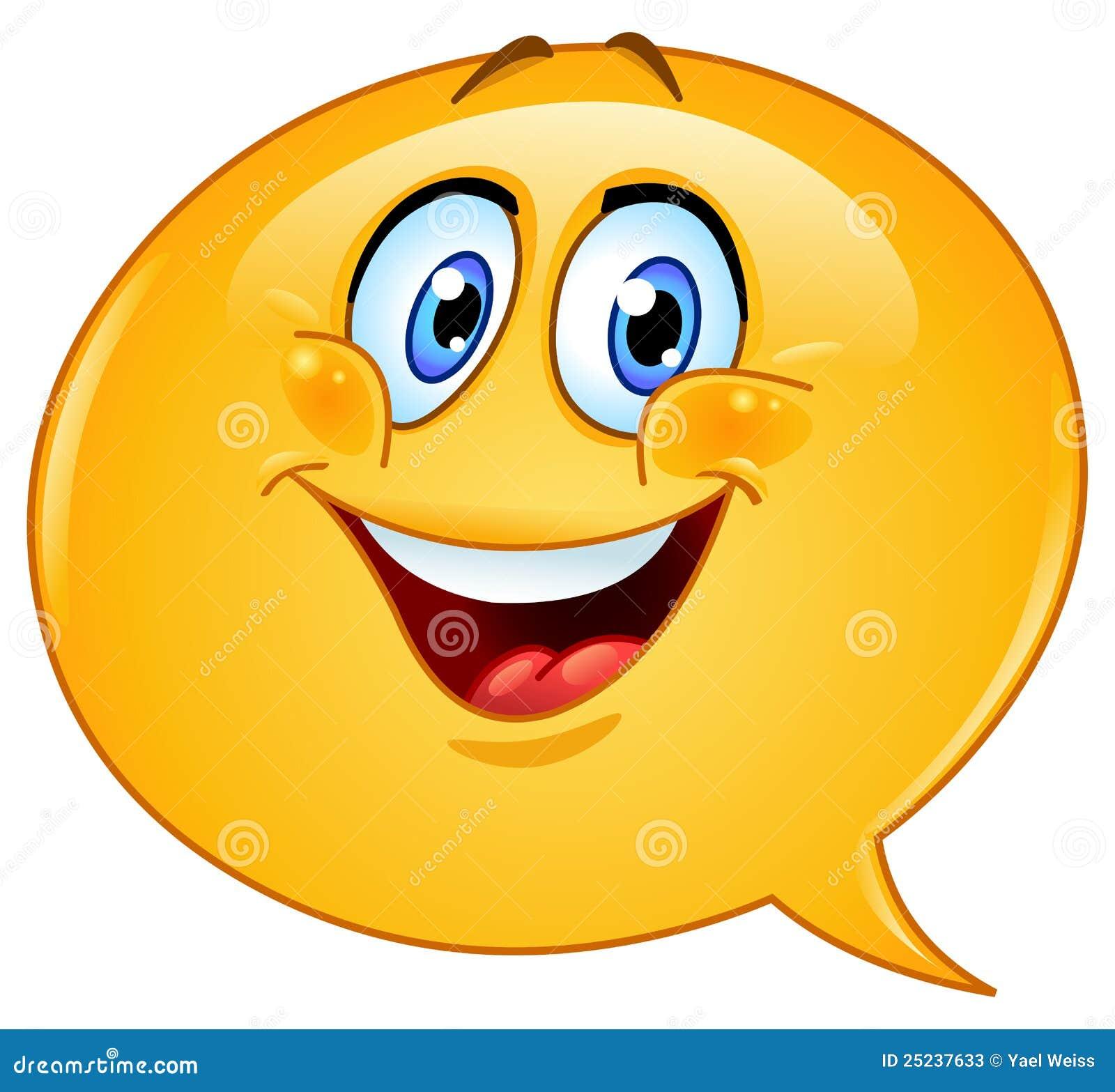 Speech Bubble Emoticon Stock Photos - Image: 25237633