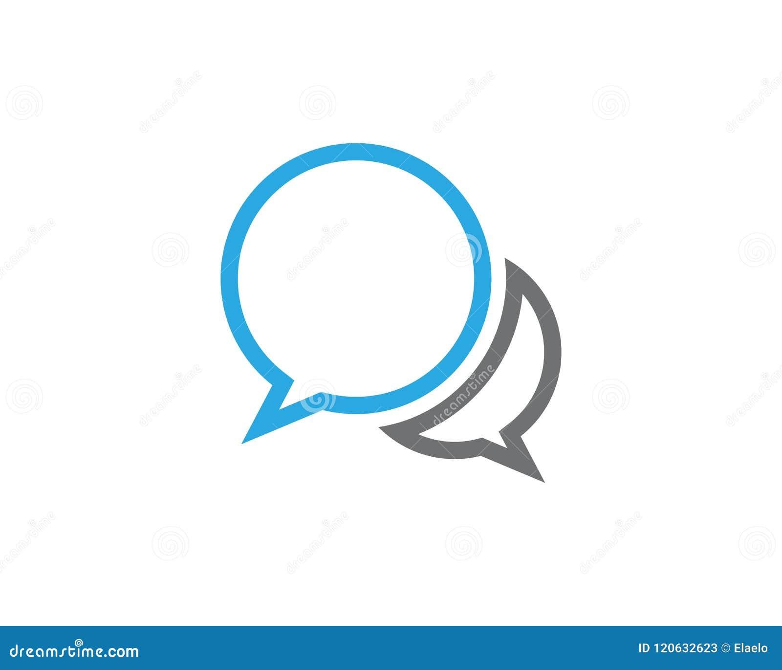 936b7b7b7ed834 Speech Bubble Icon Logo Template Stock Vector - Illustration of sign ...