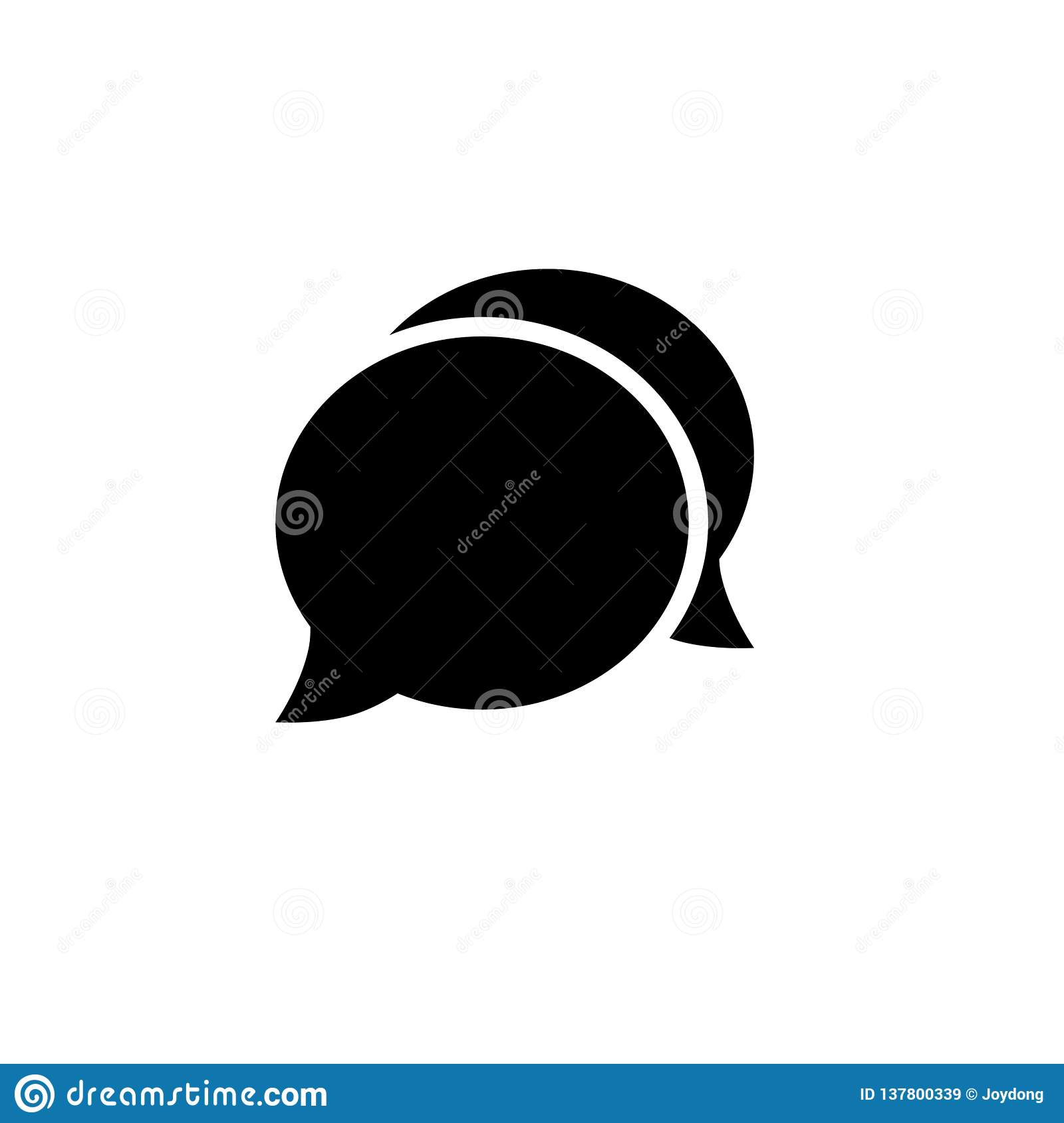 Speech bubble icon.One of set web vector icons.