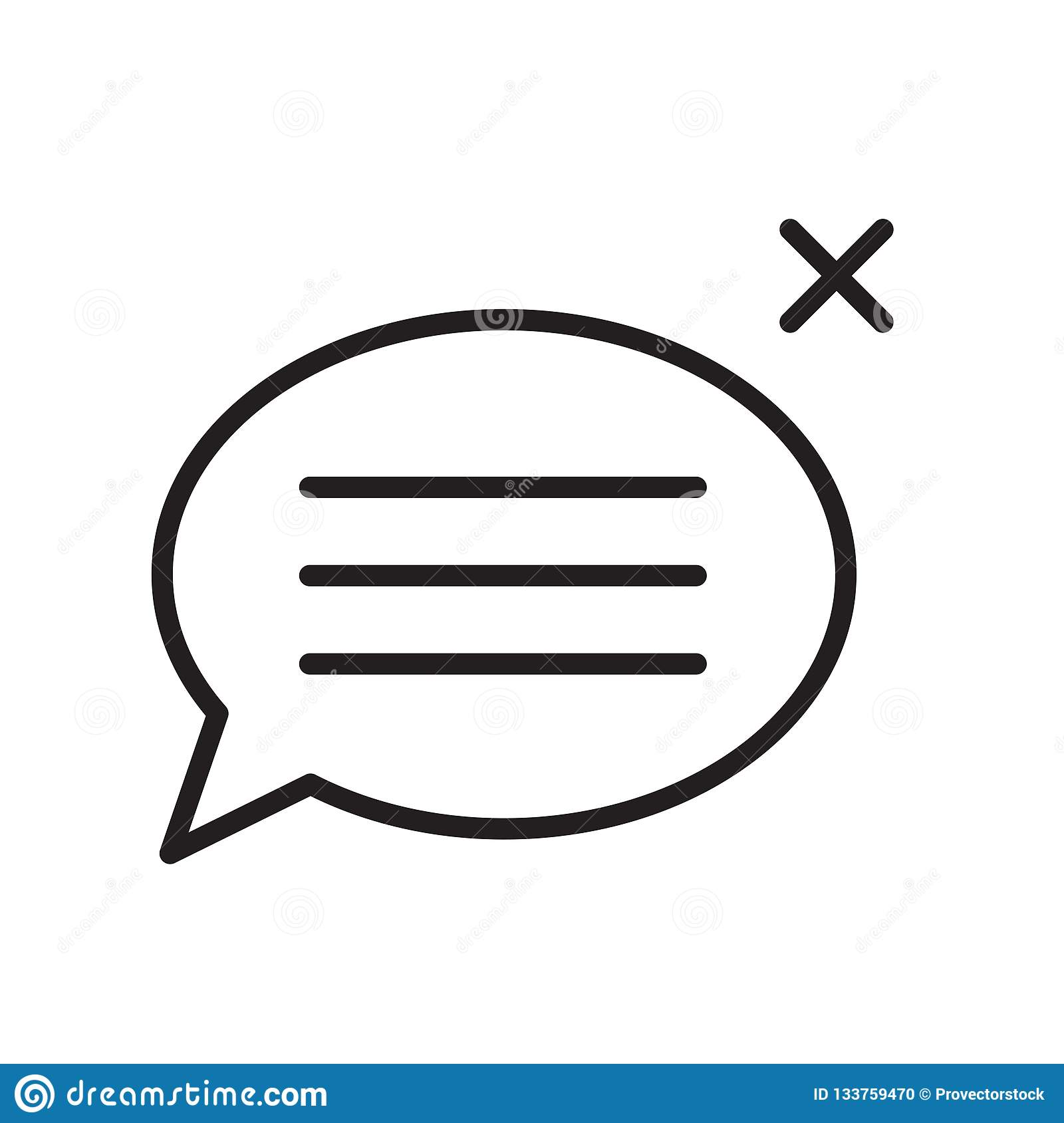 Speech bubble icon vector sign and symbol isolated on white background, Speech bubble logo concept , outline symbol, linear sign
