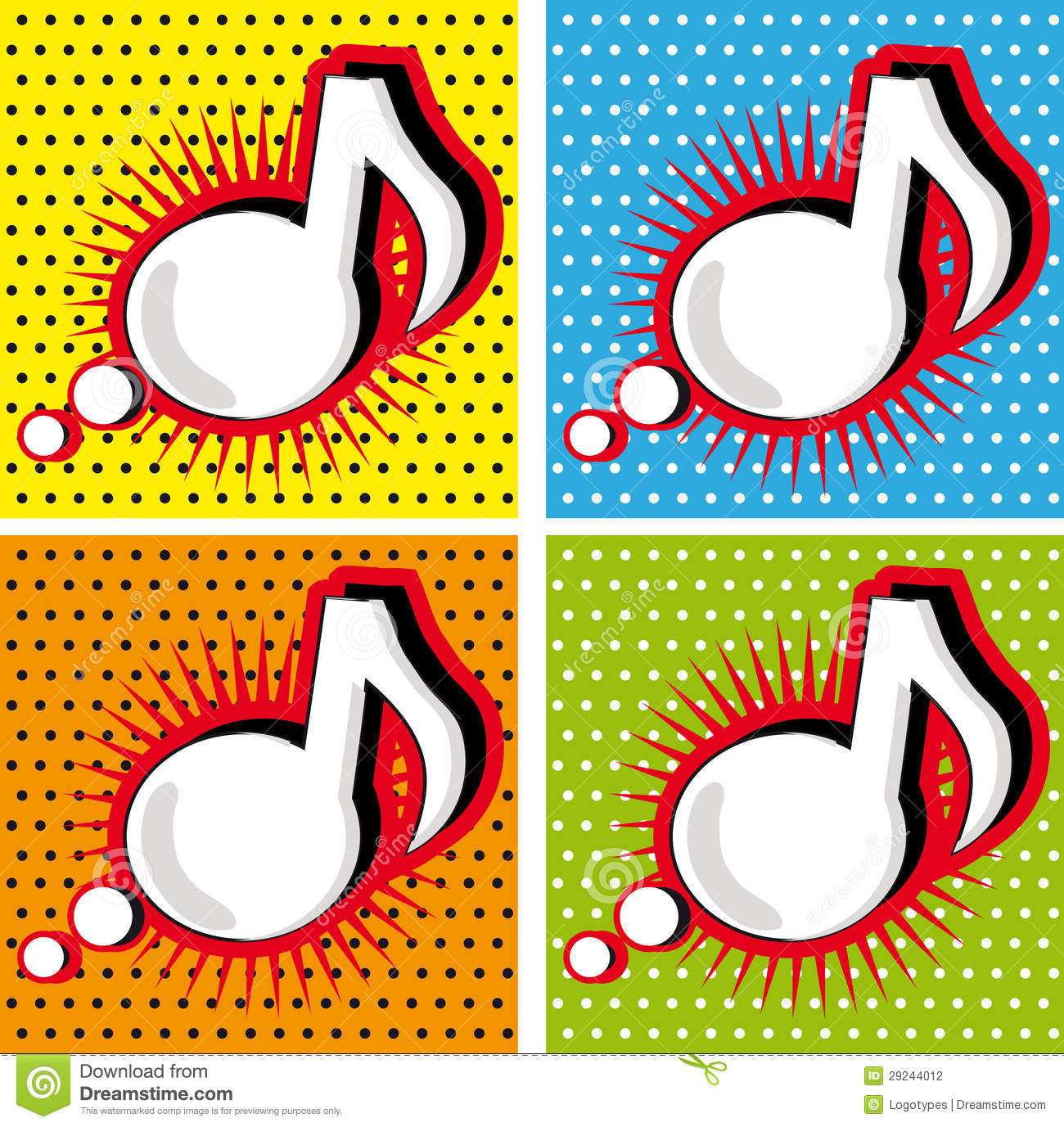 Speech bubble music note in pop art style stock photography royalty free stock photo toneelgroepblik Image collections