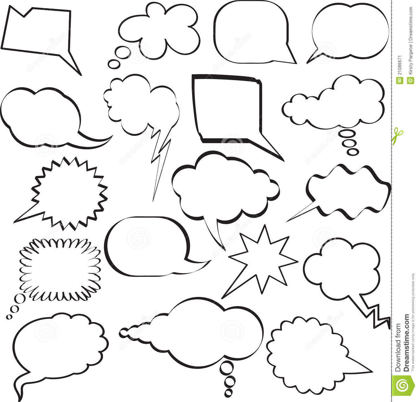 Large Collection Of Sketch Styled Speech Bubbles