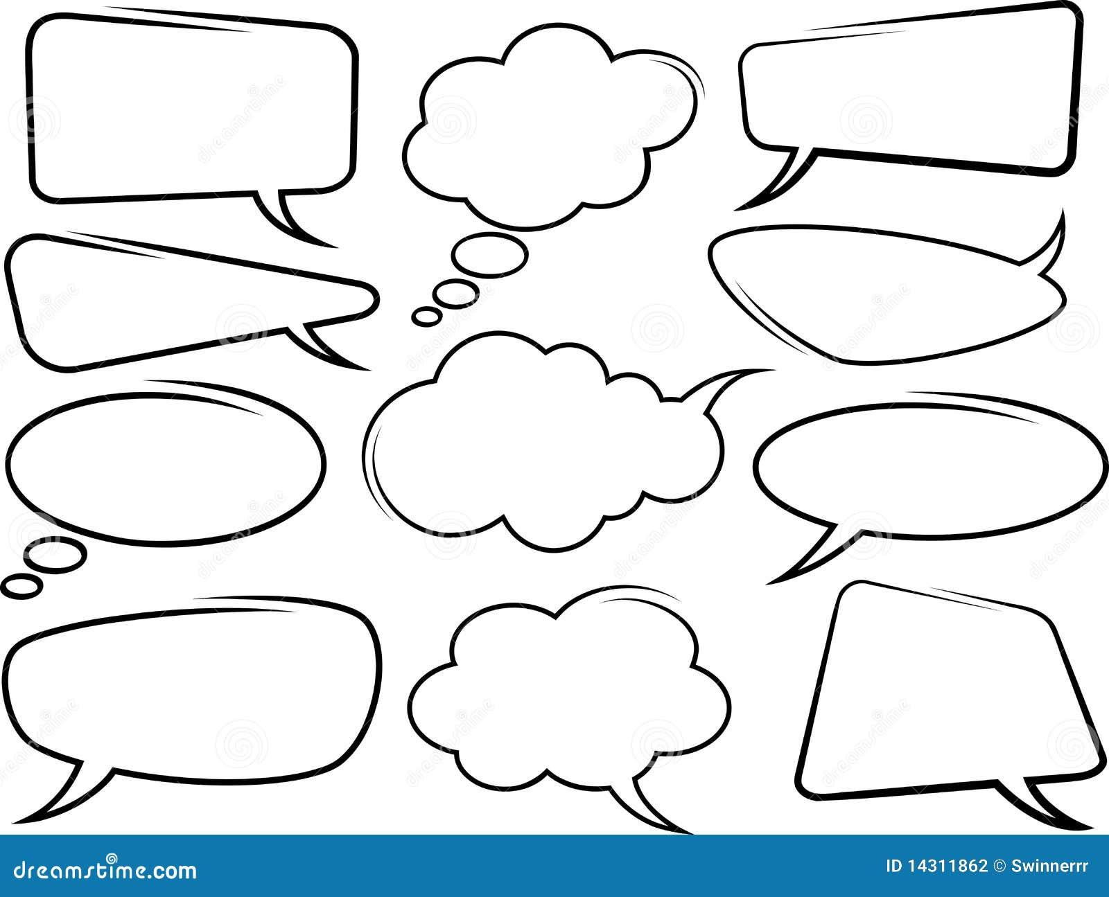 Speech Bubbles. Vector Stock Vector. Illustration Of Label