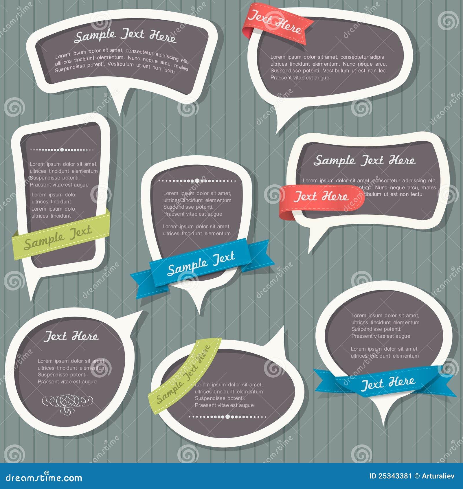Speech bubbles in vintage style