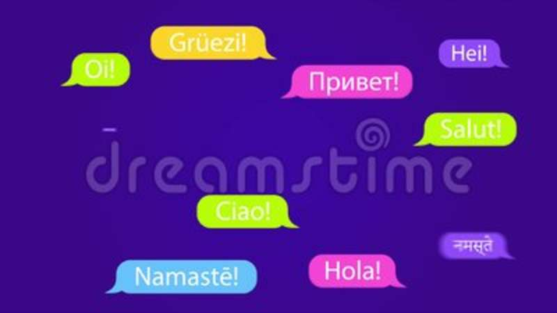 Speech Bubbles With The Word Hello In Different Languages Welcome