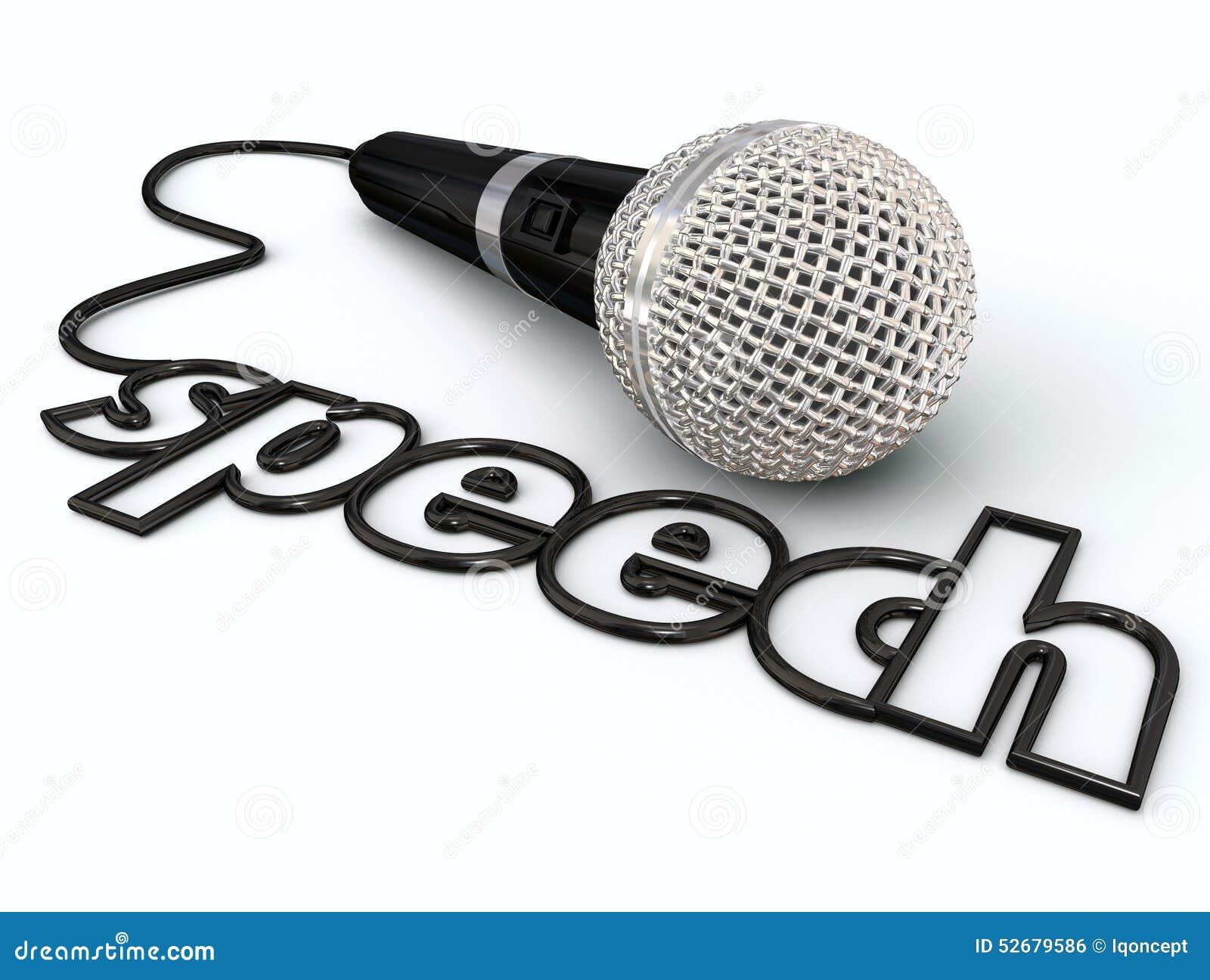 Speech Word Microphone Cord Public Speaking Presentation
